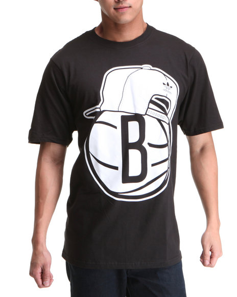Adidas Men Black Brooklyn Nets Original S/S Tee