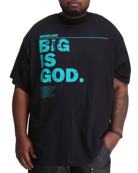 Rocawear Men Black Big Is God S/S Tee (B&T)