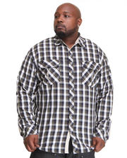 A Tiziano - Springsteen Long Sleeve Button-down Big & Tall