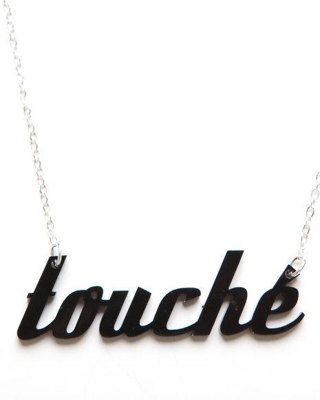 Plastique Women Touche Necklace Black