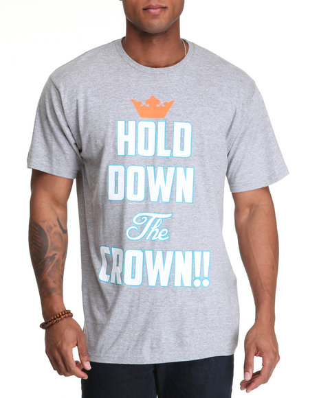 Buyers Picks Men Grey Hold Down The Crown Tee