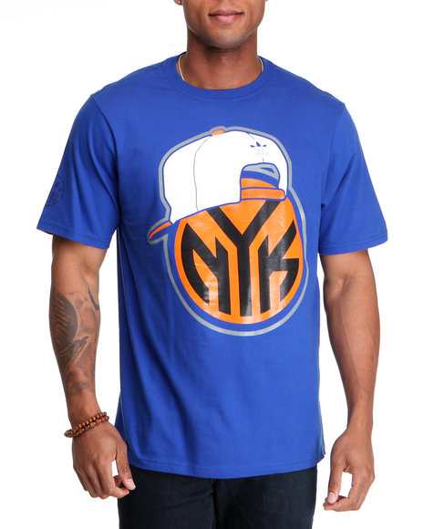 Adidas Men Blue New York Knicks Original S/S Tee