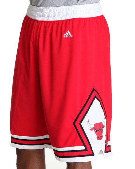 Adidas Men Red Chicago Bulls Swingman Team Shorts