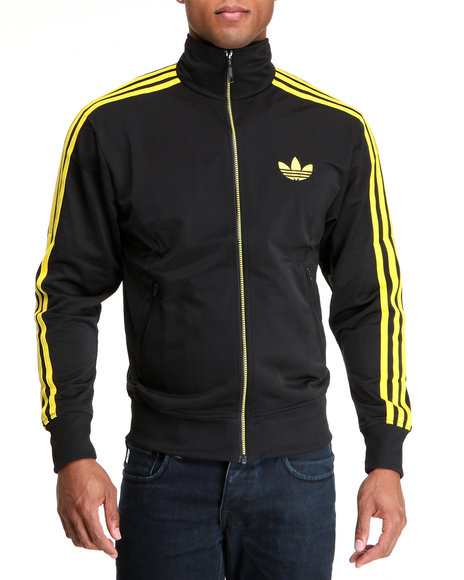 Adidas Men Black Adi Firebird Track Jacket