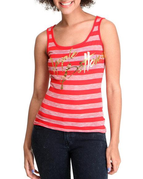 Apple Bottoms Women Red Striped Logo Tank