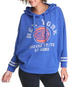 NBA MLB NFL Gear - New York Knicks  Oversized 3/4 sleeve  Hoodie