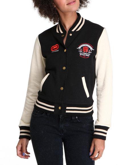 Ecko Red Women Black Long Sleeve Varsity Jacket