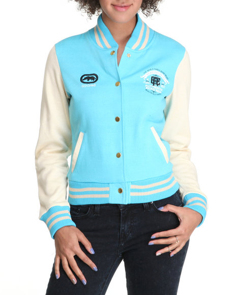 Ecko Red Women Blue Long Sleeve Varsity Jacket