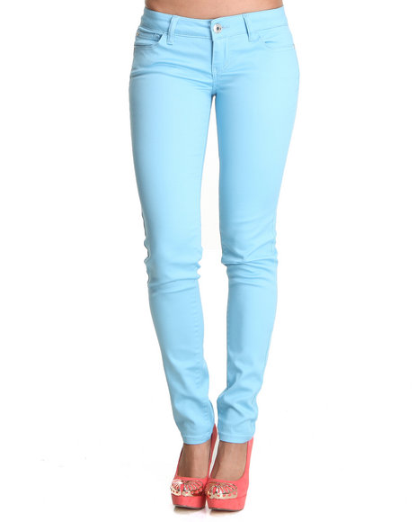 Celebrity Pink Women Blue Basic Clean Skinny Jean Pant