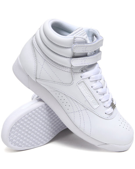 Reebok White Freestyle Hi Sneakers