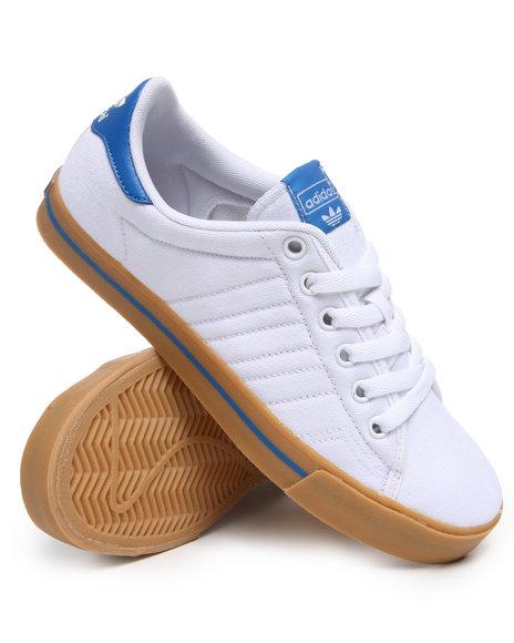 Adidas Men White Adidas Skate Adi Court Sneakers