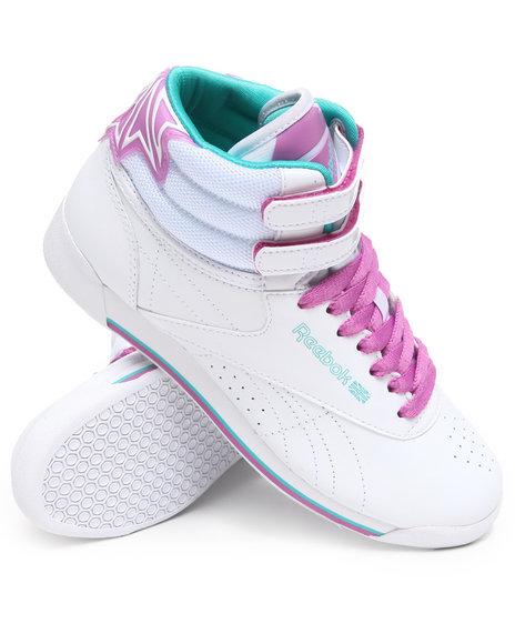 Reebok Women White Freestyle Hi R12 Sneakers