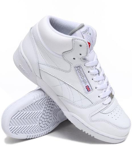 Reebok Men White Cl Exertion Mid Sneakers