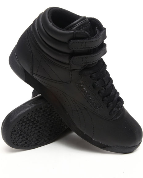 Ur-ID 222831 Reebok - Women Black Freestyle Hi Sneakers