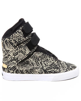 Supra - Society Snake Print Canvas Sneakers