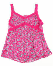 Sizes 7-16 - Big Kids - FLORAL PRINTED CAMI (7-16)