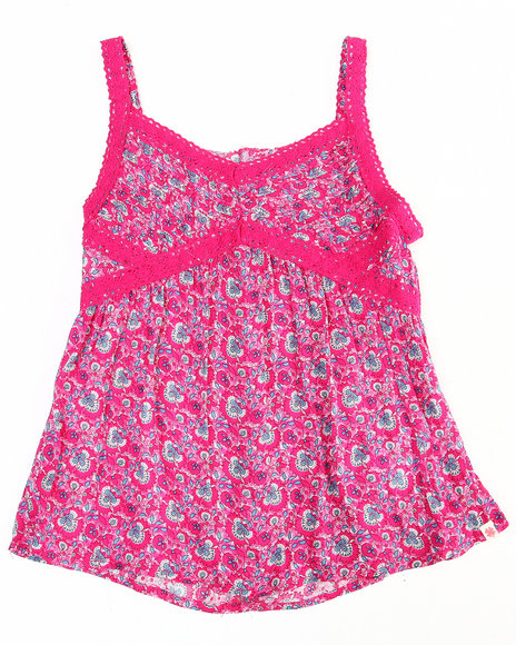 Lucky Brand Girls Pink Floral Printed Cami (7-16)