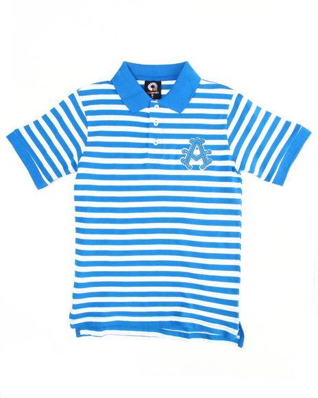 Akademiks Boys Blue Striped Polo (8-20)