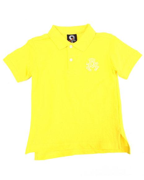 Akademiks - Boys Yellow Solid Polo (4-7)