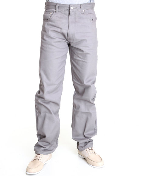 Akademiks Men Grey Akademiks Colour Twill Pants