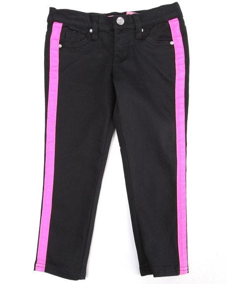 La Galleria Girls Black,Pink Tuxedo Skinny Jeans (7-16)
