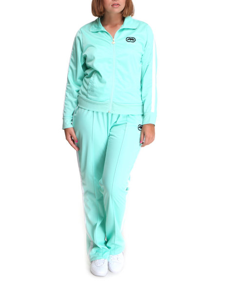Ecko Red Women Teal Active Tracksuit Set (Plus Size)