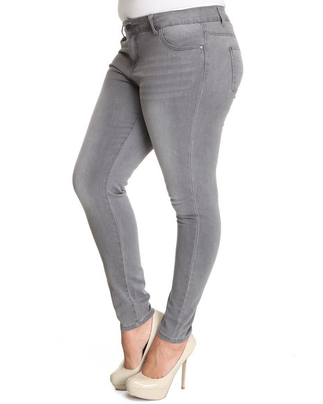 Celebrity Pink Women Grey Saturn Skinny Jean (Plus Size)