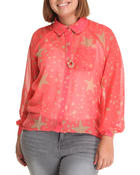 Tops - Stars HI-Low Chiffon Top
