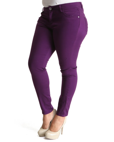 Celebrity Pink Women Purple Celebrity Pink Colored Skinny Jean (Plus Size)