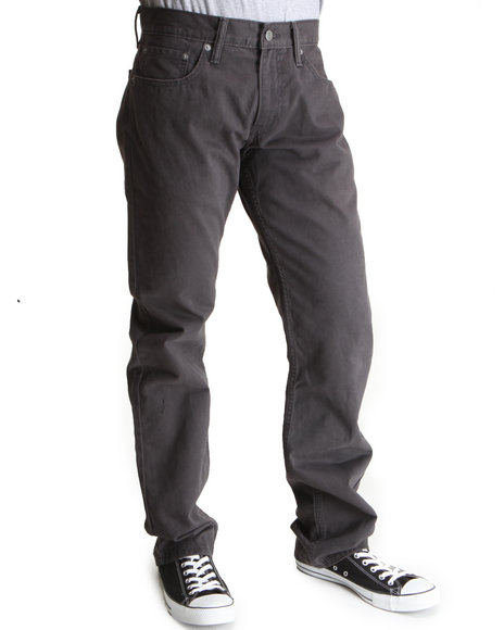 Levi's 514 Slim Straight Fit Graphite Soft Washed Twill Pants