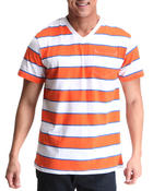 Men - Auto Stripe V-Neck Tee
