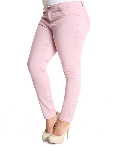 Celebrity Pink Women Pink Celebrity Pink Colored Skinny Jean (Plus Size)