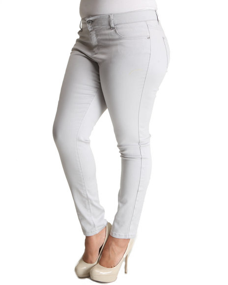 Celebrity Pink Women Silver Celebrity Pink Colored Skinny Jean (Plus Size)