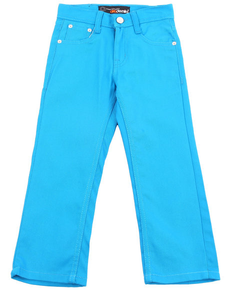 Akademiks Boys Teal Bull Denim Jeans (4-7)