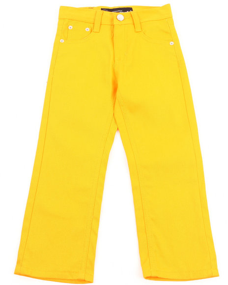 Akademiks Boys Yellow Bull Denim Jeans (4-7)