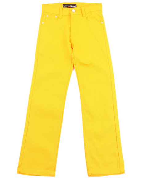 Akademiks Boys Yellow Bull Denim Jeans (8-20)