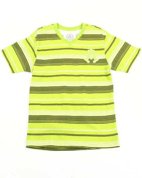 Akademiks Boys Lime Green Artisan V-Neck Tee (8-20)
