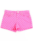 Girls - NEON DOT PRINT SHORTS (4-6X)