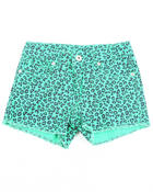 Girls - ANIMAL PRINT SHORTS  (7-16)