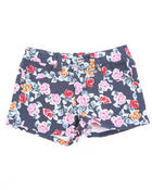 Bottoms - FLORAL PRINT SHORTS (4-6X)