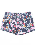 Bottoms - FLORAL PRINT SHORTS (7-16)