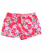Girls - FLORAL PRINT SHORTS (4-6X)