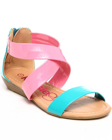 Kensie Girl Girls Pink Criss Cross Sandal (11-4)