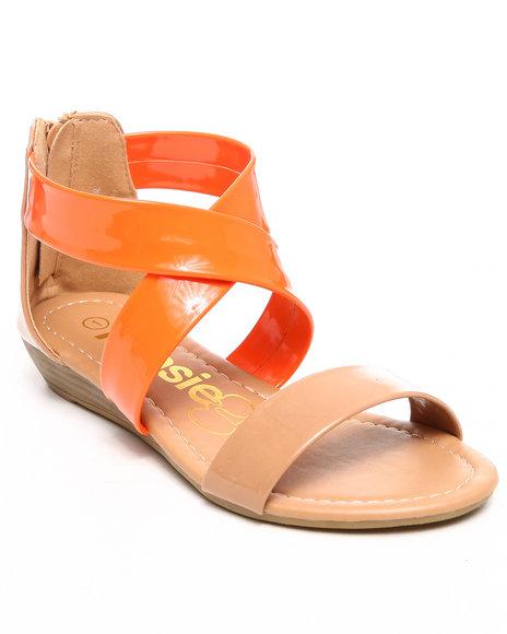 Kensie Girl Girls Orange Criss Cross Sandal (11-4)