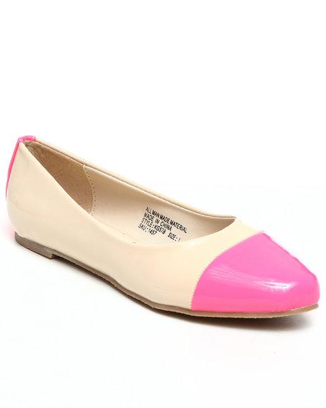 Kensie Girl Girls Tan Cap Toe Flats (11-4)