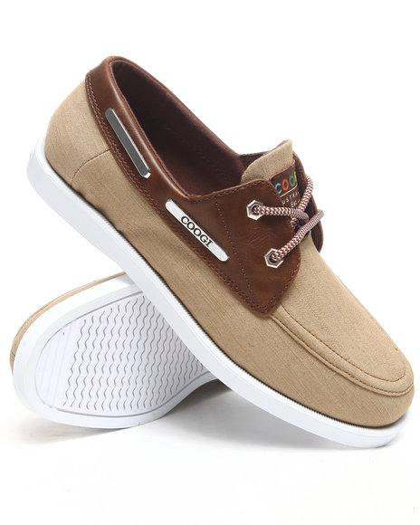 COOGI Men Brown Louis 3 Chambray Boat Shoe