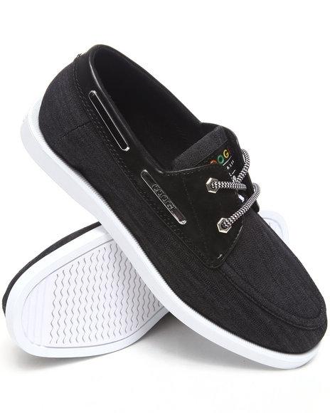 COOGI Men Black Louis 3 Chambray Boat Shoe
