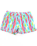 Girls - IKAT PRINT SHORTS (4-6X)