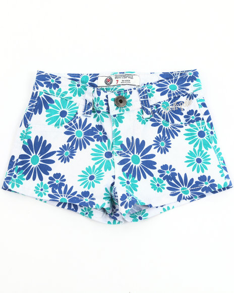 Southpole Girls Daisy Printed Shorts 716 Blue 12