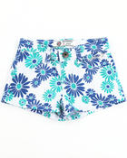 Bottoms - DAISY PRINTED SHORTS (7-16)